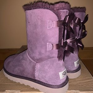 Womens Purple Bailey Bow II Boot Uggs